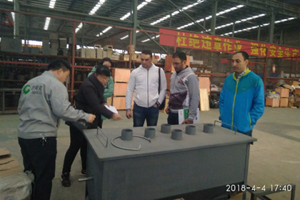 Egypt customers visit GEMCO small pellet press factory and  introducing the cooling machine to the client