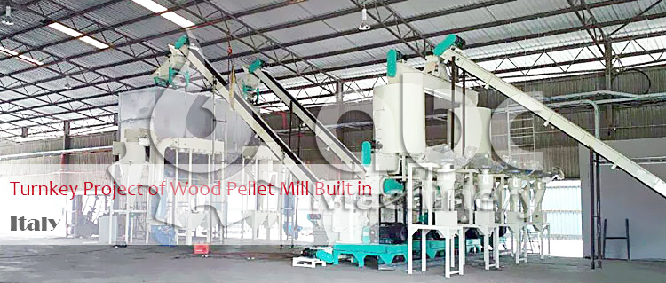 Large Biomass Pelletizing Plant