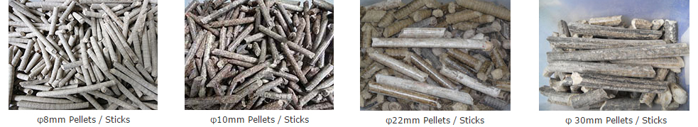 Pellets\sticks of Punching Briquetting Machine