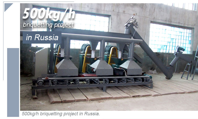The 500kgh Briquette project in Russia