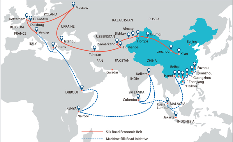 The Belt and Road Map
