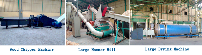 auxiliary machines for wood pellet mill line