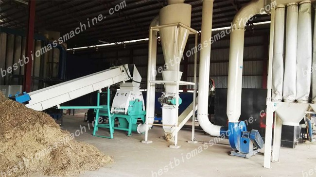 crushing for elephant grass pellet plant