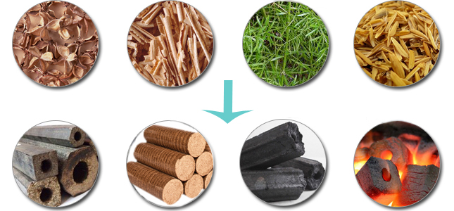 From Biomass Wastes to Bio Fuel Briquettes