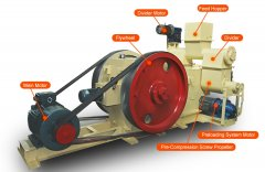 GC-MBP1000 Fuel Briquette Press Delivered to Philippine