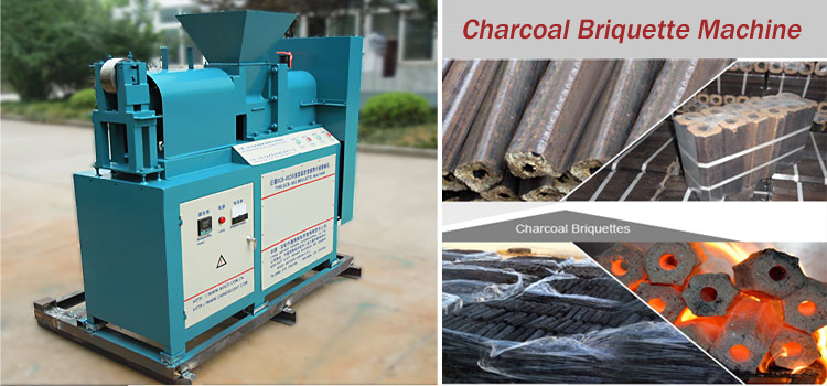Making bbq Charcoal Briquettes with Screw Briquette Machine