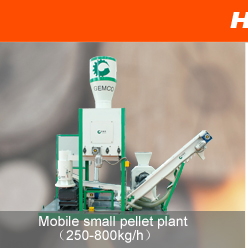 mobile pellet making plant
