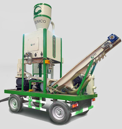 movable straw pellet plant
