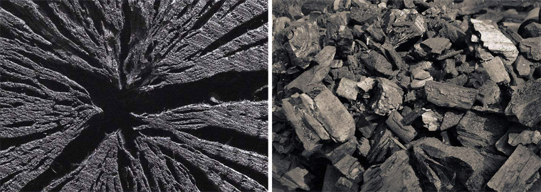 natural wood charcoal briquettes