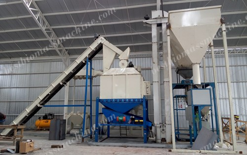 pellet cooler and packing machine