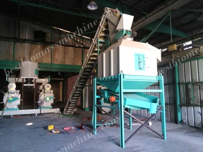 pellet machine and pellet cooler