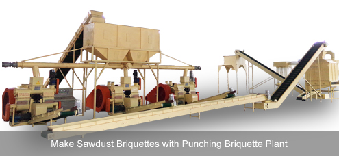 sawdust briquette production processing